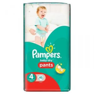 Pampers Baby-Dry Pants taille 4 Maxi 8-15 kg - 40 couches