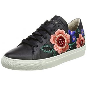 Skechers Vaso-Flor, Baskets Femme, Noir (Black Leather), 40 EU