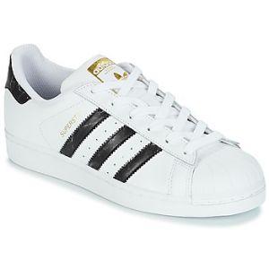 Adidas Superstar s Blanc/noir 42 Homme