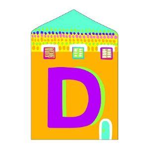 Djeco Lettre petite maison en bois : D