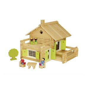 Jeujura Maison en rondins de bois - 175 pièces