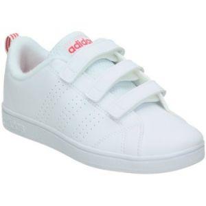 Adidas Vs ADV Cl CMF C, Chaussures de Running Mixte Enfant, Blanc Cassé (FTWR White/Super Pink F5), 28 EU