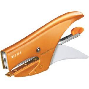 Leitz 5531-10-44 - Pince agrafeuse Wow capacité 15 feuilles, coloris orange métallique