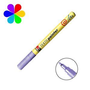 Marabu 011603251 - Marqueur pour tissu Textil Painter, violet, pointe ogive 1-2 mm