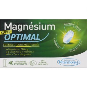 Laboratoires Vitarmonyl Super tonique - magnesium optimal x40 comp