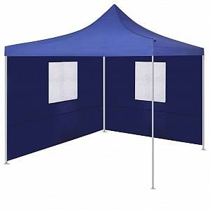 VidaXL Tente pliable avec 2 parois 3 x 3 m Bleu