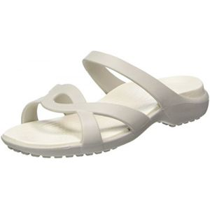 Crocs Meleen Twist, Femme Sandales, Blanc (Pearl White/Oyster), 39-40 EU
