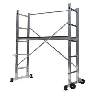 Centaure Échafaudage B3 - Hauteur de travail : 3 m - En aluminium - Hauteur de travail maximum : 3 m - 2 hauteurs de planchers : 0,61 m / 0,89 m