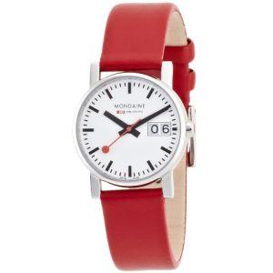 Mondaine A669.30305.11SBC - Montre pour femme avec bracelet en cuir