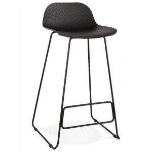 Kokoon Design Tabouret de Bar Noir AZOHIA