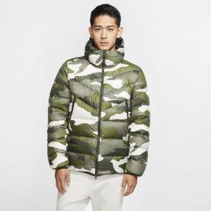 Nike Veste à capuche imprimée Sportswear Down Fill Windrunner pour Homme - Olive - Taille M - Male