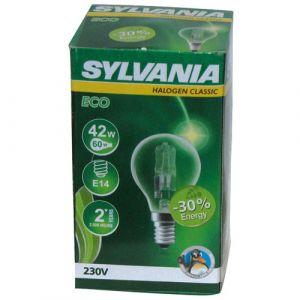 Sylvania Ampoule halogène sphérique Haleco E14 42W 2800K