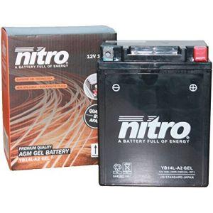 Nitro Yb14L-A2 Gel Batterie Moto Yb14L-A2 Gel