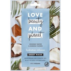 Love Beauty and Planet Masque en tissu hydratation infusion