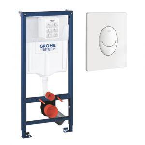 Grohe Bâti-support pour wc Rapid SL - Pour mur porteur, blanc