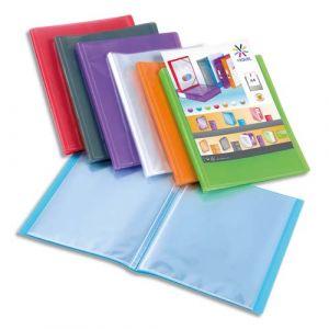 Viquel Protège documents Propygalss - personnalisable - 60 pochettes - 120 vuess - coloris assortis