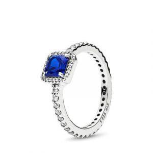 Pandora : Bague 190947NBT - Bague Élégance Intemporelle Bleue Femme
