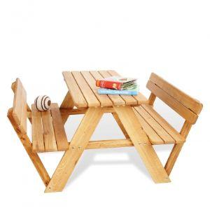 Pinolino 204019 - Table pique-nique Lilli pour 4 avec dossier