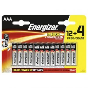 Energizer Alcaline LR3 (AAA) 16 piles