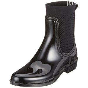 Tommy Hilfiger Tommy Knit Rain Boot, Bottes & Bottines de Pluie Femme, Noir (Black 990), 37 EU