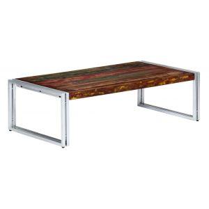 VidaXL Table basse 120 x 60 x 35 cm Bois de récupération solide