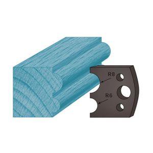 Diamwood Platinum Jeu de 2 contre-fers profilés Ht. 38 x 4 mm boudin double A51 pour porte-outils de toupie