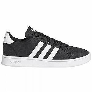 Adidas Grand Court K EG1517 universel toute l'année chaussures pour enfants blanc/noir 5 Kid UK / 5.5 US / 38 EUR / 24 cm