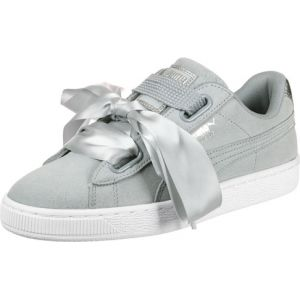 Image de Puma Suede Heart Safari, Basket Mode Femme, Gris (Quarry-Quarry), 39 EU