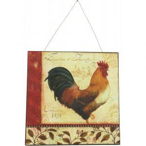 Plaque décorative Publicité exposition coq (30 x 30 cm)
