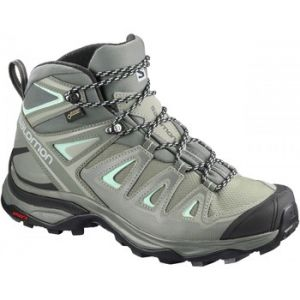 Salomon X Ultra 3 Mid GTX W, Chaussures de Randonnée Hautes Femme, Gris (Shadow/Castor Gray/Beach Glass 000), 40 EU
