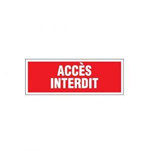 Novap Panneau Accès interdit - Rigide 330x120mm - 4140575
