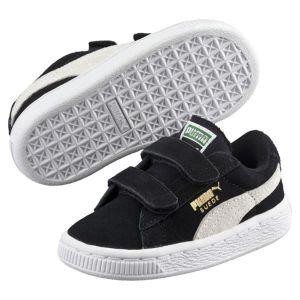 Puma Suede 2 Straps PS, Sneakers Basses Mixte Enfant, Noir (Black-White), 30 EU