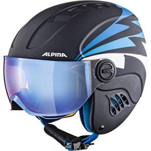 Alpina Carat Le Visor HM Casque de ski pour enfant Avec visière XS Nightblue-Denim Matt