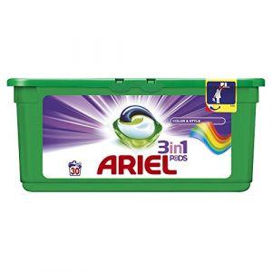 Ariel Lessive 3 en 1 Pods Couleurs et style 30 doses