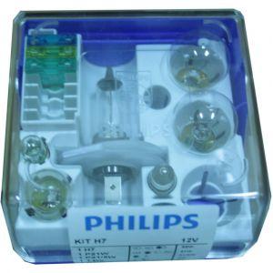 Philips Coffret secours 6 ampoules H7 12 Volts avec 3 fusibles 52732130