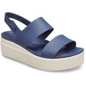 Crocs Sandales BROOKLYN LOW WEDGE W bleu - Taille 41,36 / 37,38 / 39,42 / 43,42 1/2,37 1/2,38 1/2,36 1/2,39 1/2,37 / 38,39 / 40,41 / 42