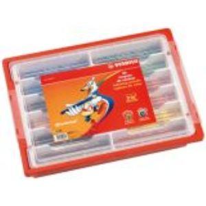 Stabilo 020396 - Schoolpack 96 Crayons de couleur Trio 12 couleurs