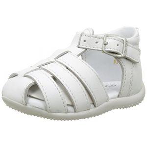 Kickers Bigfly, Sandales bébé fille, Blanc (Blanc), 22 EU