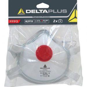 Delta Plus Lot de 2 pièces faciales filtrantes FFP3 en fibre synthétique non tissée -M2FP3V