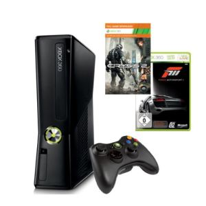 Microsoft Xbox 360 Slim 250 Go + Forza Motorsport 3 Ultimate + Crysis 2 + Carte abonnement 3 mois