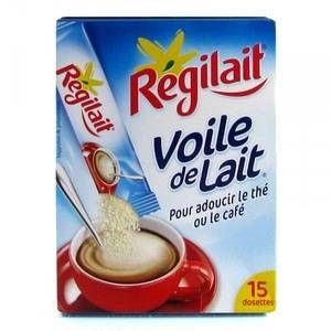 Régilait Lait instantané arômatisé pour adoucir thé ou café - Les 15 dosettes, 60g