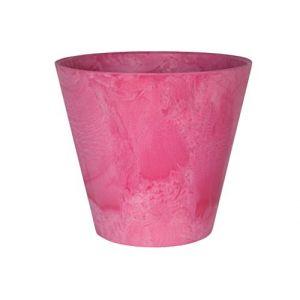 Artstone Pot de Fleurs, Bac à Plante Claire, Résistant au Gel et ultraléger, Rose, 27x24cm