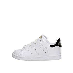 Adidas Stan Smith I, Chaussures Premiers Pas Mixte Bébé - Blanc - Blanc (Ftwbla/Ftwbla/Negbas), 26 EU