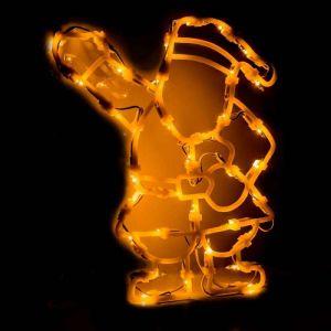 Figurine de fenêtre éclairée Père Noël 35 ampoules
