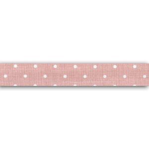 Toga LKT111 Rouleau de Tissu adhésif - Pois Coton, Rose Pêche, 6,5 x 6,5 x 1,5 cm