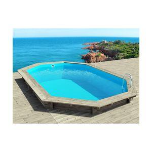 Habitat et Jardin Cancun - Piscine hors sol, semi-enterrée ou enterrée en bois 653 x 441 x 145 cm