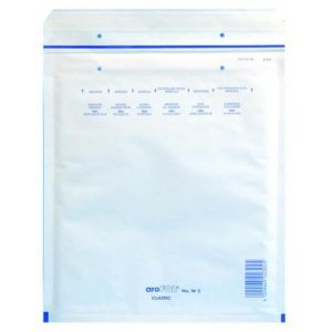 Clairefontaine 8444C - Boîte de 100 pochettes matelassées N°4, kraft blanc à bulles, 90 g/m², 175x265 (dim. intérieures)