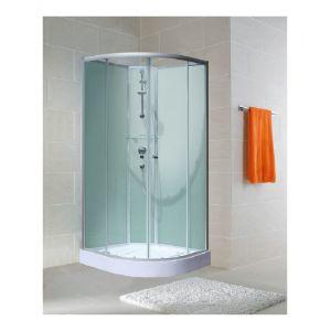 Schulte-ufer Cabine de douche arrondie 90 x 204 cm Ibiza