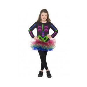 Smiffy's Costume squelette néon pour fille (8-10 ans)