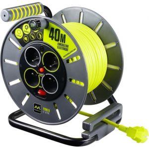 Masterplug Enrouleur électrique - câble - multiprises - Pro XT - 40m LUCECO